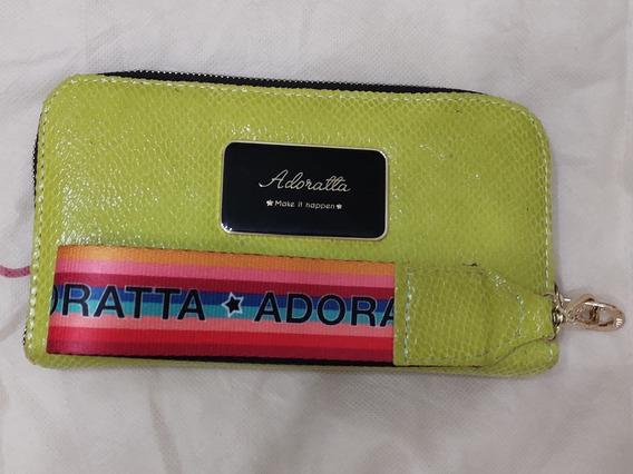 Billetera Adoratta Color Lima. Tira Arcoiris