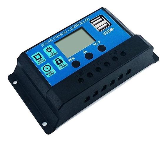Controlador De Carga Solar Fotovoltaico Pwm Rbl-20a Lcd 20a