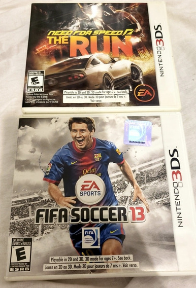 Need For Speed The Run + Fifa 13 Para Nintendo 3ds E 2ds