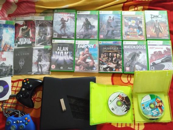Xbox 360 Desbloqueado Com Vários Jogos