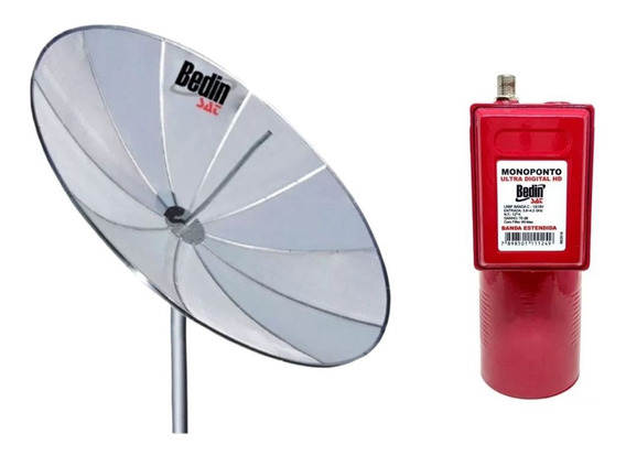 Antena Parabolica Tela 1,90 Metros Bedinsat E Lnbf Monoponto