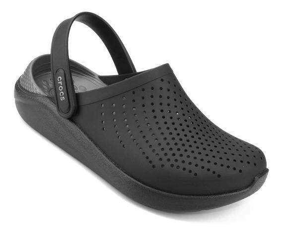 Crocs Literide Clog - Preto E Cinza Original