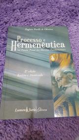 Livro Processo E Hermenêutica