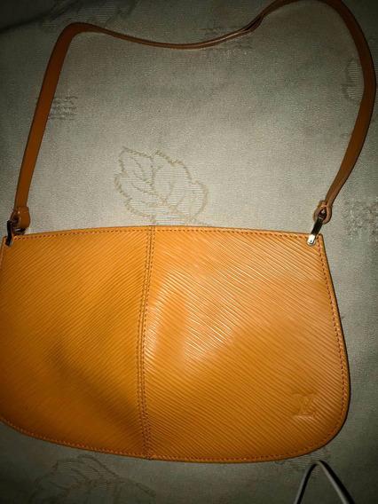 Pochette Original Louis Vuitton Cuero Epi Demi Lune