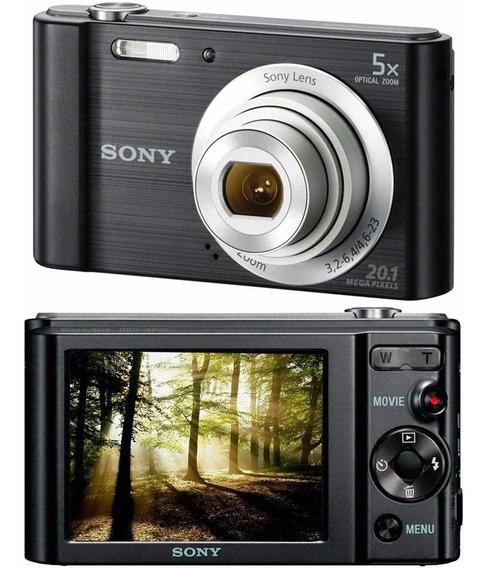Camera Digital Sony W800 20.1 Mp 5x Zoom Foto Panorâmica/bc