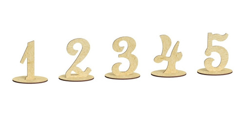 Set De 40 Números De Boda Para Mesa En Mdf, Xv Años Rg614