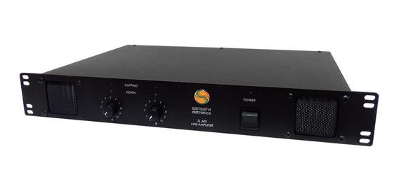 Amplificador De Linha Estéreo 600w Sl 600 - Sansara