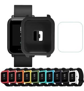 Capa Case Silicone Amazfit Bip Colorida + Pelicula