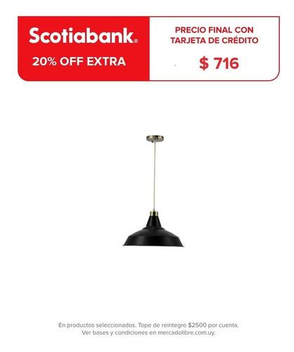 Lámpara Colgante Estilo Industrial Metal