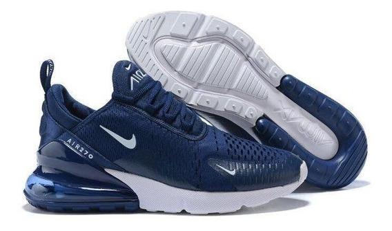 Tenis Nike Air Max 270 Azul Hmbre Mujer + Envio Gratis