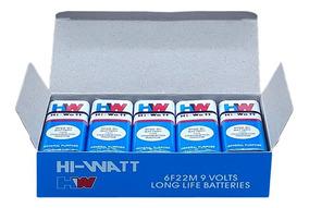 Bateria 9v Hw Original Caixa Com 10 Unidades Envio Imediato