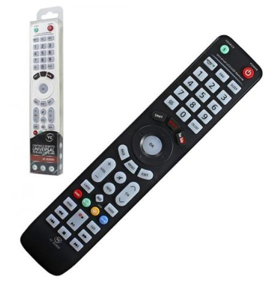 Controle Universal Lcd Led Compatível Smart Tv Netflix