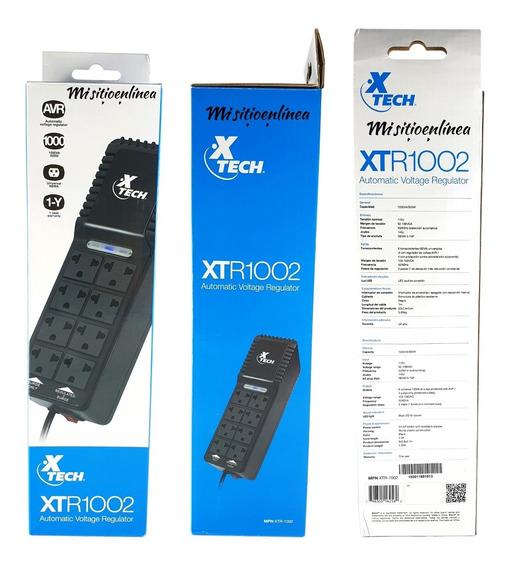 Regulador Regleta Automático Xtech Xtr1002 Negro 1000va 500w