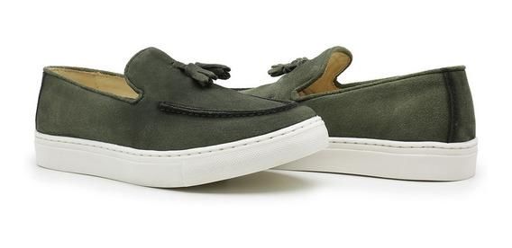 Sapato Casual Penny Loafer Bambulim Couro Classico!