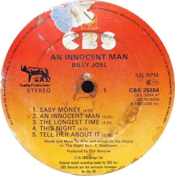 Vinilo Billy Joel An Innocent Man Lp Uk 1983