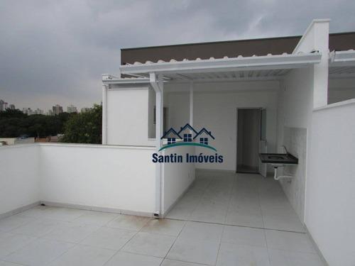 Cobertura Com 2 Dormitórios À Venda, 92 M² Por R$ 440.000,00 - Vila Scarpelli - Santo André/sp - Co0575