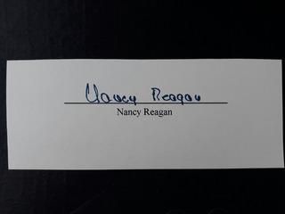Nancy Reagan Firma Auténtica
