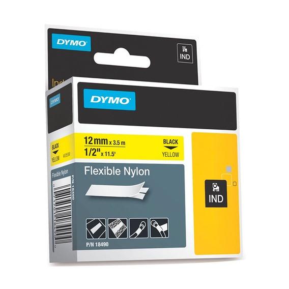 Cinta Nylon Flexible Amarillo Rhino 12mm Rotuladora M18490