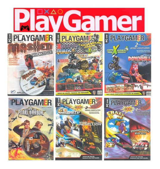Play Gamer 6 Revistas + Cd Rom Jogos Completos Para Pc