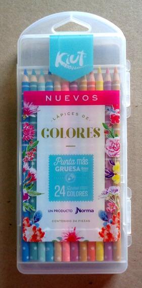 Lápices De Colores Norma Kiut 4mm Redondo Con 24