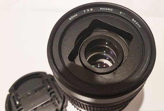 Lente 60mm F/2.8 Super Macro Amplia 2:1 2x Viltrox Canon