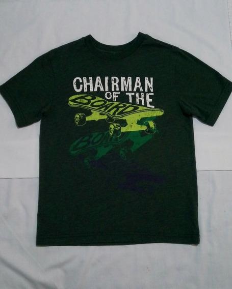 The Childrens Place Camiseta Niño Grafica Verde Talla 5 / 6