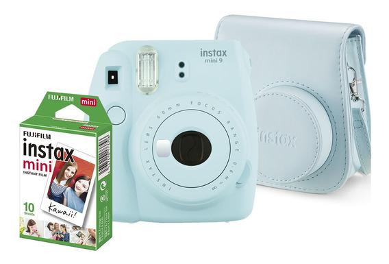 Kit Instax Mini 9 Bolsa E 10 Poses Azul Aqua - Fujifilm