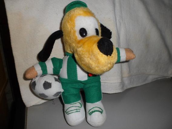 Pluto De Pelucia Jogador Futebol Usado 22 Cm Disney