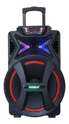 Caixa De Som Amplificada Amvox Aca 700 Pancadão Bluetooth