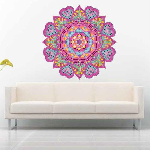 Vinilo Sticker Decorativo Peq. Mandala Multicolor / Contac