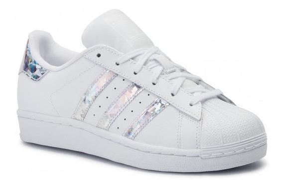 Tenis adidas Superstar Blanco Plata F33889