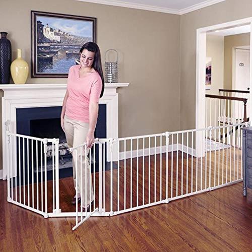 Reja De Seguridad En Metal Color Blanco 6 Paneles Extraíbles