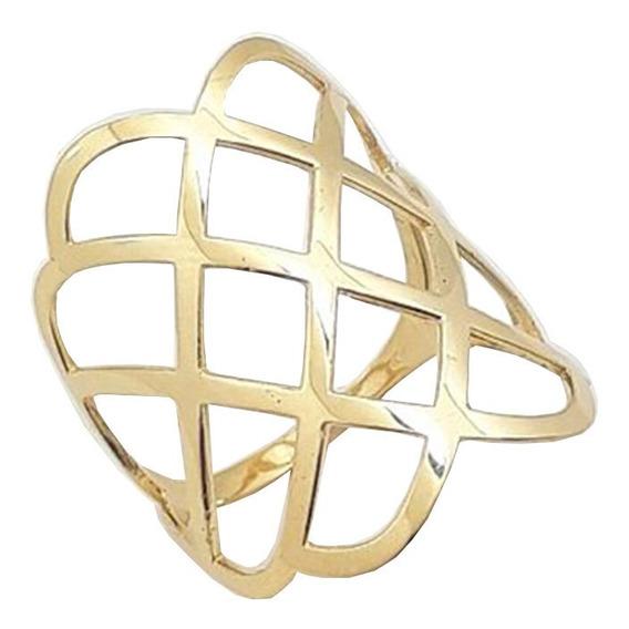 Anel Vazado De Ouro 18k 750