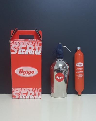 Imagen 1 de 6 de Sifón Drago + Garrafa Naranja Cargada