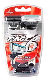 Maquina De Afeitar Desechable Pace 6 X 3 Unidades Dorco - Sx
