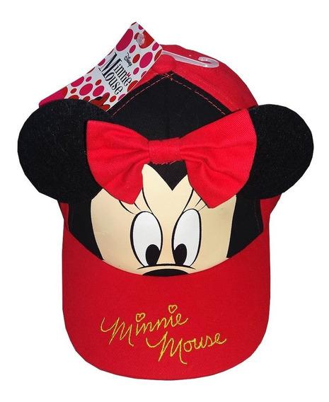 Boné Infantil Minnie Mouse Vermelho Com Orelhas Disney