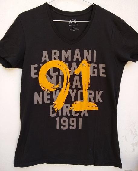 Remera Armani Excahnge Original Talle:l