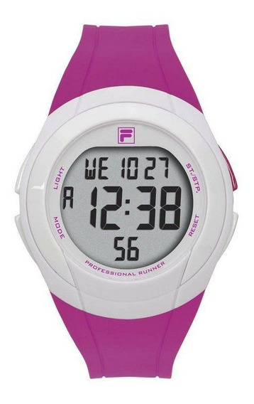 Relógio Fila Digital Roxo Em Estoque !!!