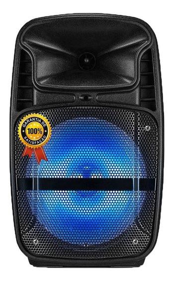 Caixa Amplificada Som Portátil Bluetooth Mp3 Rádio Fm Usb Sd