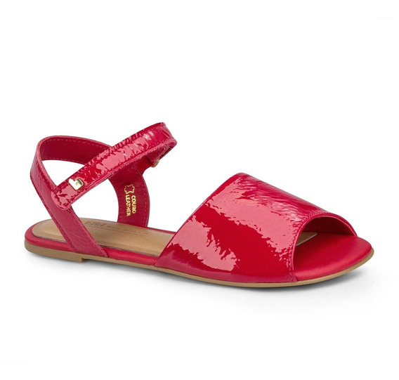 Sandália Infantil Bibi Feminina Vermelha Little Me 1104015