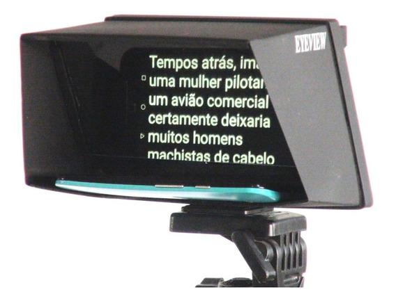 Eyeview Mobile Teleprompter Portátil P/ Smartphone Com Case