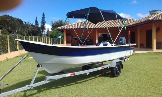 Barco P/ Pesca Com Motor 40hp Yamaha 2t Nauticacia
