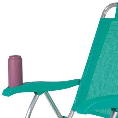 Cadeira Reclinavel Praia Com Porta Copos Em Santos