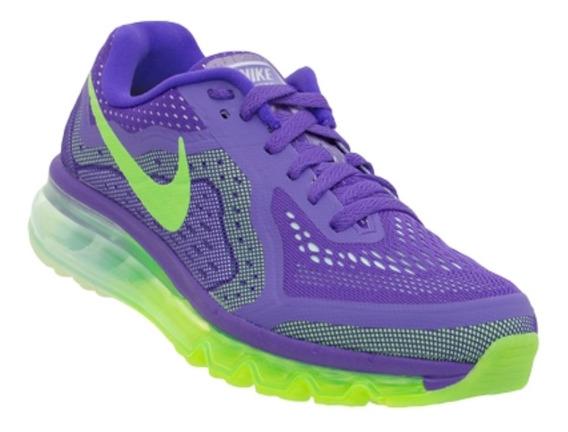 Tênis Nike Air Max 2014 Roxo/verde Original