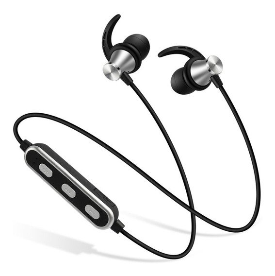 Prateado Bluetooth Headset Com Pescoço E Duas Orelhas Blueto