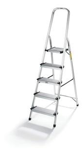 Escalera Aluminio Tijera Con Apoyo 5 Escalones 150cm Kulbart