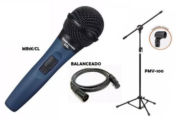 Microfone Audio Technica Mb-1k/cl + Pedestal Vector