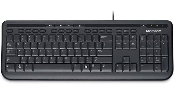 Teclado Microsoft 600 Silencioso + Resistente A Líquidos