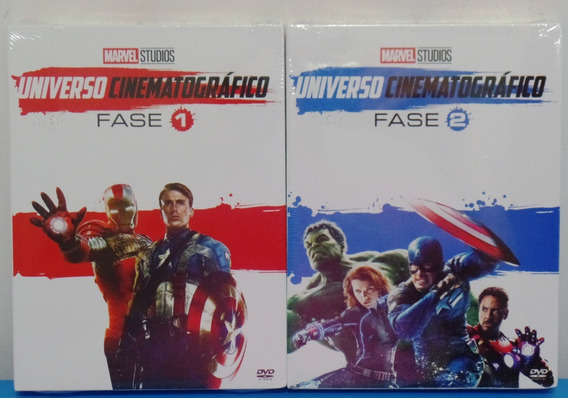 Dvd Box Marvel Universo Cinematográfico Fase 1 E 2 - Lacrado
