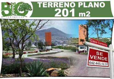 Precioso Terreno De 201 M2 En Bio Grand Juriquilla - Plano Y De Oportunidad!